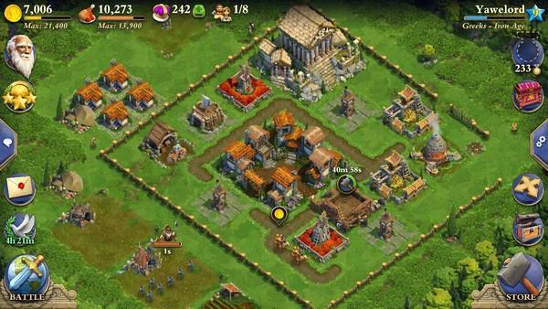 DomiNations merupakan game strategi dengan tema membangun peradaban. Konsepnya mirip dengan game Civilization.