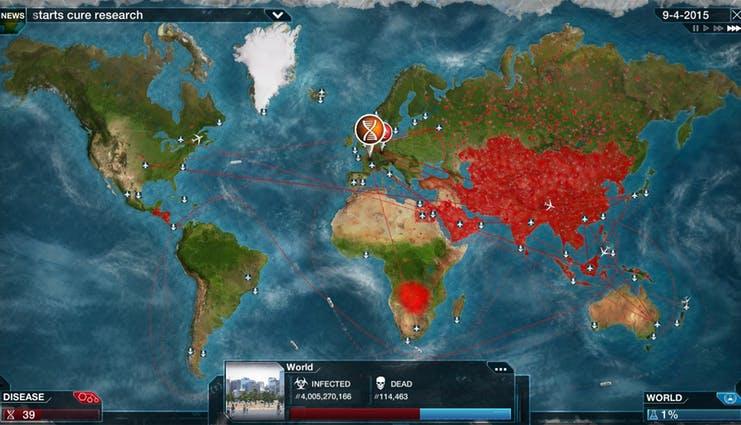 Plague Inc merupakan game strategi yang memiliki misi untuk memusnahkan populasi manusia di bumi.