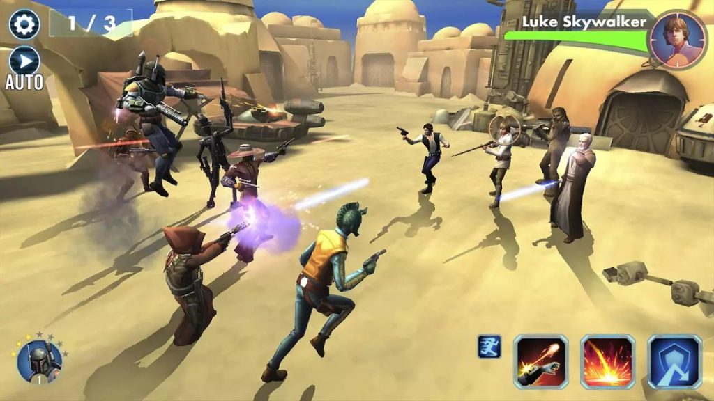 Game Strategy milik Electronic Art (EA Games) ini memiliki grafik 3D yang sanga bagus untuk mobile games.