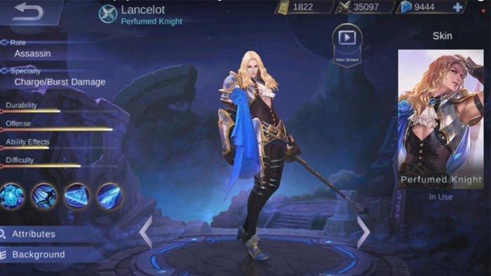 Lancelot merupakan salah satu hero dengan tipe assasin yang bisa dibilang ideal karena memiliki skil escape/chase yang baik dan burs damage yang tinggi