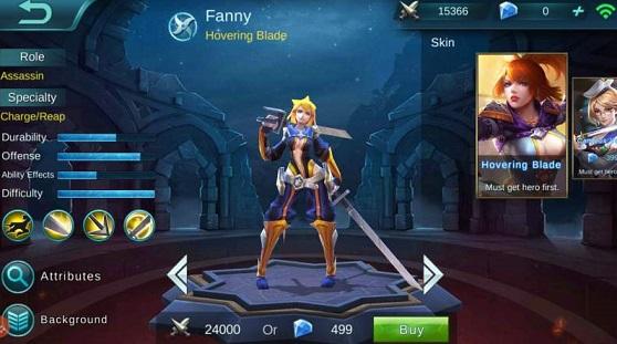 Hero Fanny merupakan hero yang ahli dalam urusan farming melalui kemampuan mobilitas tinggi dengan menggunakan kabel untuk berpindah lane dengan cepat.