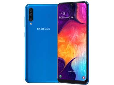 Samsung Galaxi A50 akan mengusung desain premium untuk tampilan layar (display). Penggunaan rasio 19.5:9 untuk ukuran tengah dipadu dengan sisi layar yang tipis